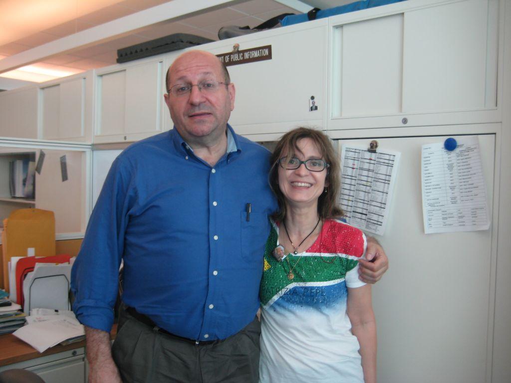Avec Jérome chaleureux et amical journaliste Français aux N.U. qui a réalisé l'interview pour le magazine Escale.