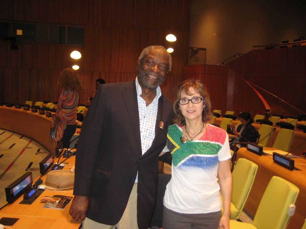 En compagnie du journaliste Les Payne qui a rencontré Nelson Mandela !